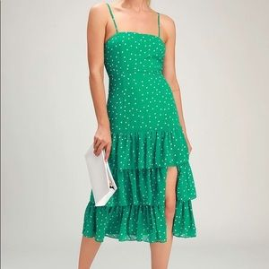 Lulu's Ruffled Polka Dot Dress
